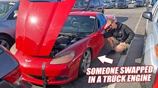 We Bought an Auction Corvette and It's an Absolute Nightmare... (Truck Engine Inside)