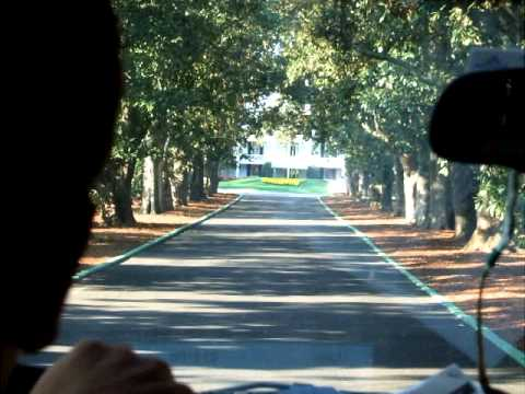 Entering Augusta National and The Masters- The Drive Down Magnolia Lane.AVI