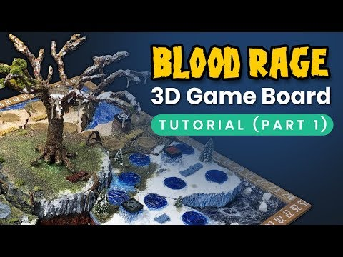 Blood Rage: Playable 3D game board tutorial