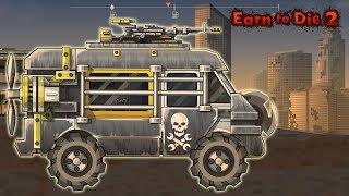 Игры зомби выживание машинки для мальчиков Earn To Die 2 супер прокачанный фургон