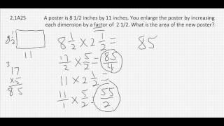 2.1A25  Multiplying Mixed Numerals Word Problem