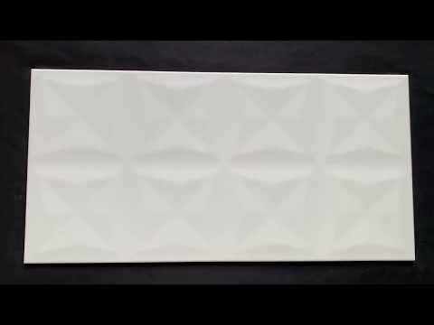Płytka ścienna ORIGAMI DUNE biała struktura błyszcząca 29,7x60 gat. I