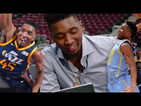 Donovan Mitchell Reacts To His BEST Dunks From Rookie Year!