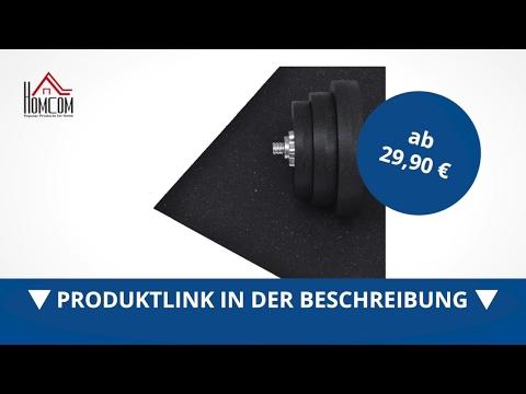 Homcom Bodenschutzmatte für Fitnessgeräte Unterlegmatte 220x110cm  - direkt kaufen!