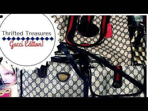 b6900e67aaf1 Huge Designer Thrift Haul Gucci
