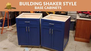 Building Shaker Style Kitchen Base Cabinets
