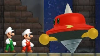 Newer Super Mario Bros Wii   All Castle Bosses (2 Players)