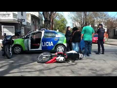 El drone en directo. Video: choque en 14 y 67
