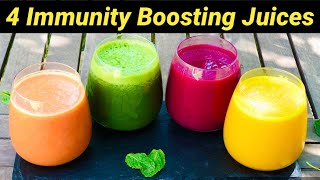 4 Immunity Boosting Juices   4 Detox Juice Recipes For Healthy Skin & Digestion   Healthy Juices