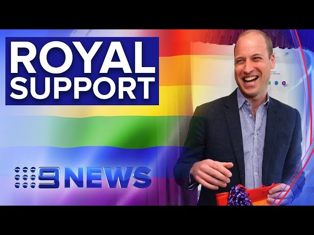 Duke of Cambridge meets young people at LGBT charity | Nine News Australia