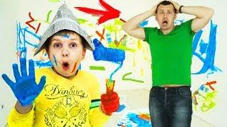 Матвей САМ сделал РЕМОНТ!?!? Папа в ШОКЕ!!! Видео для детей Video For Kids Матвей Котофей для детей
