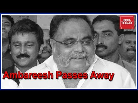 Ambarish the legendary kannada rebel star and former union minister passes away