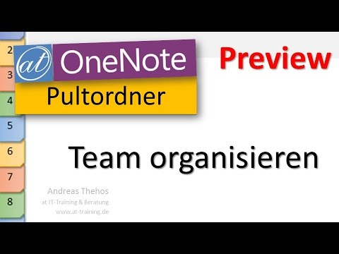 OneNote - Pultordner / Registermappe - Team organisieren - Preview