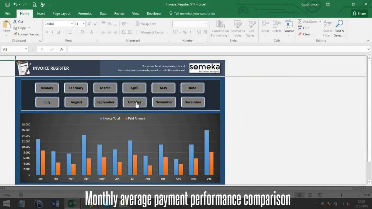 Invoice Tracker - Someka Excel Template Video