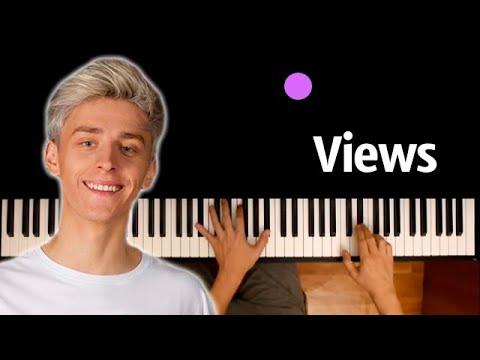 @A4  - VIEWS ● караоке | PIANO_KARAOKE ● ᴴᴰ + НОТЫ & MIDI