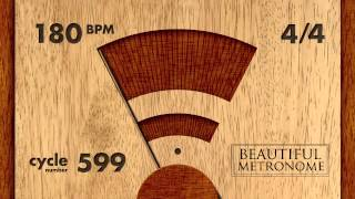 180 BPM 44 Wood Metronome HD