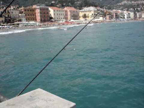 Thermos per inverno pescando in una copertura