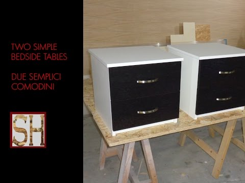 Two simple bedside tables - Due semplici comodini