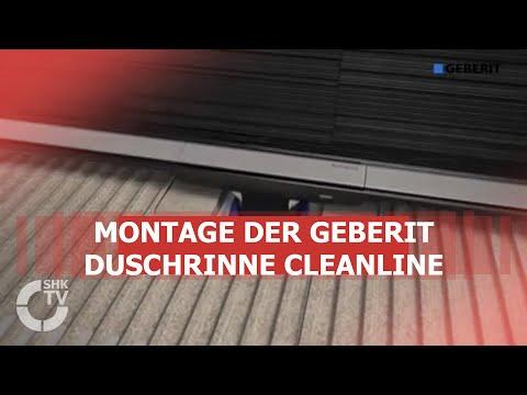 Geberit: Montage Duschrinne CleanLine