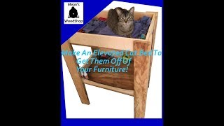 Make An Elevated Cat Bed With Storage - Means Woodshop