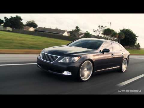 "Lexus LS460 on 22"" Vossen VVS-CV3 Concave Wheels / Rims"