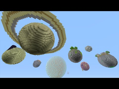 Minecraft (Xbox360/PS3) - SOLAR SYSTEM MOD! -  Mod Showcase!