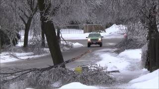 preview picture of video 'December 22,2013 Winter Ice Storm Oshawa Ontario'
