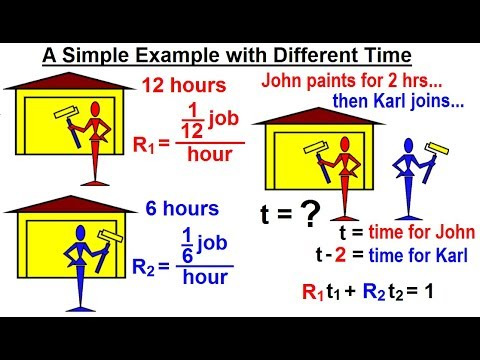 Algebra Ch. 16: Solving Rate Problems (4 of 11) A Simple Example with Different Time