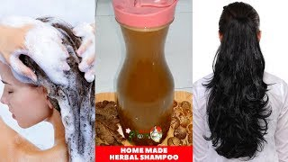 Homemade herbal hair shampoo  Get long  thick  shiny healthy hair at home