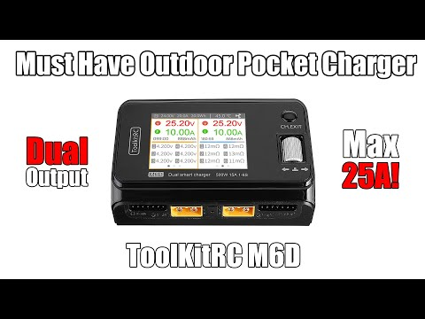 BEST POCKET CHARGER! - ToolKitRC M6D Charger Review (Banggood)