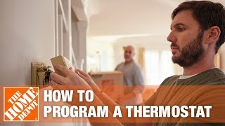 How to Program a Thermostat | The Home Depot