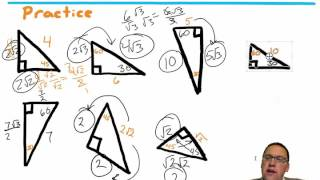 Lesson 52 - Using Two Special Right Triangles