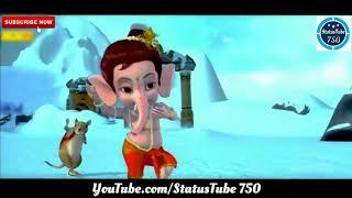GANESH CHATURTHI SPECIAL WHATSAPP STATUSगणेश_चतुर्थी_आगे_(बाल गणेश,मूसक का डांस)  StatusTube 750