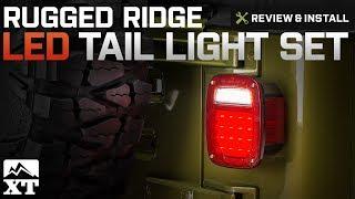 Jeep Wrangler Rugged Ridge LED Tail Light Set (1987-2006 YJ & TJ) Review & Install
