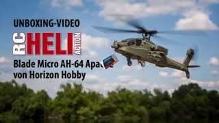 RC-Heli-Action: Unboxing Blade Micro AH-64 Apache von Horizon Hobby