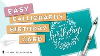 Easy DIY Calligraphy Birthday Card