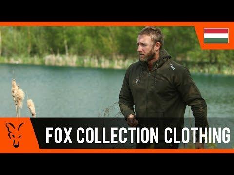 Fox Collection Black/Orange Hoodie - pulóver (több méretben) videó