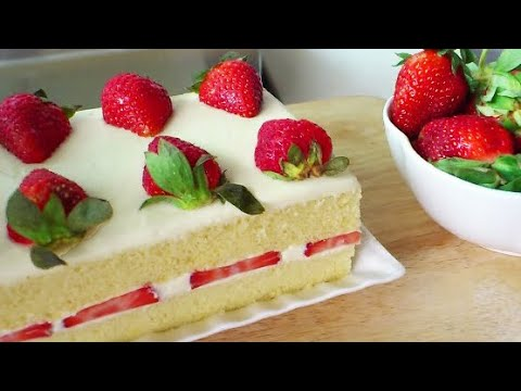 Video Japanese Strawberry Shortcake (草莓奶油蛋糕; Strawberry Cream Cake) **