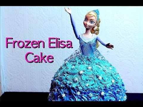 FROZEN ELSA CAKE *COOK WITH FAIZA*