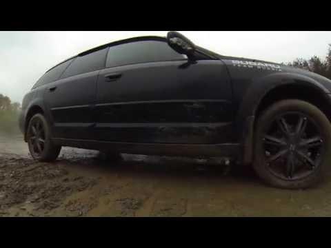 Subaru Outback BP9: Осенние катания по детским лужам (Autumn dirt race)