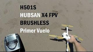 Hubsan x4 h501s primer vuelo