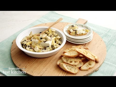 Baked Lemon and Feta Artichoke Dip – From the Test Kitchen