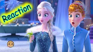 Disney Olaf's Frozen Adventure Short Movie Trailer Reaction + Queen Elsa Princess Anna Dolls