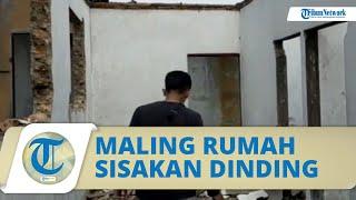 Maling Gasak Rumah di Medan Hingga Sisakan Dinding, Hasil Curian Dijual ke Pengepul Barang Bekas
