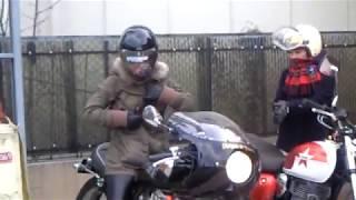 美少女ライダー 美人ライダー YAMAHA SR400 Kawasaki ESTRELLA 250 Motorcycles ヤマハ・SR400 カワサキ・エストレア Cafe Racer