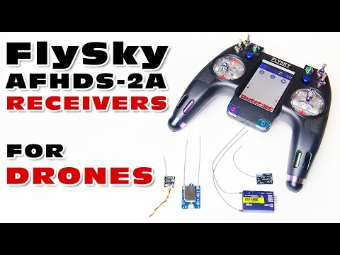 A detailed look at drone / FPV receivers for FlySky transmitters...