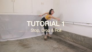 Roller Skating Tutorial 1 - How To Roller Skate...Stop, Drop & Roll!