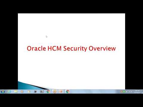 Oracle Fusion Cloud HCM Training | HCM Security Overview ...