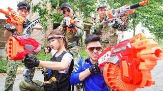 LTT Nerf War : SEAL X Warriors Nerf Guns Fight Attack Criminal Group Squad Suicide