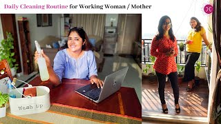 As A Working Woman How We Can Maintain A Clean Home / Daily Cleaning Routine For Working Women